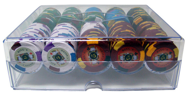 200 King's Casino Poker Chip Set with Carousel