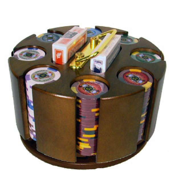200 King's Casino Poker Chip Set with Acrylic Tray