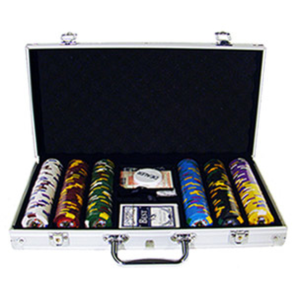 300 King's Casino Poker Chip Set with Aluminum Case