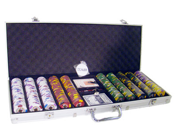 500 King's Casino Poker Chip Set with Aluminum Case