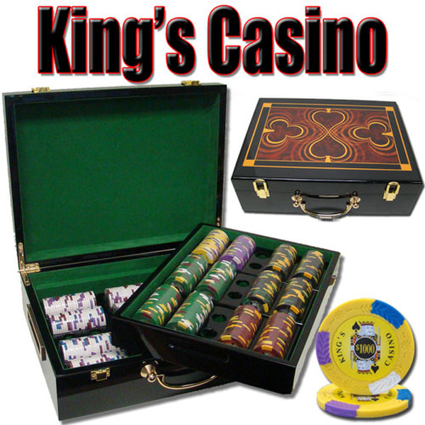 500 King's Casino Poker Chip Set with Hi Gloss Case