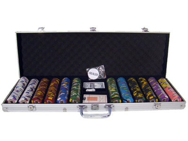 600 King's Casino Poker Chip Set with Aluminum Case