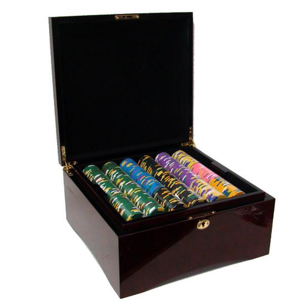 750 King's Casino Poker Chip Set with Mahogany Case