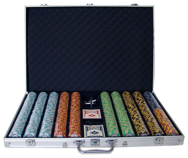 1,000 Monte Carlo Poker Chip Set with Aluminum Case