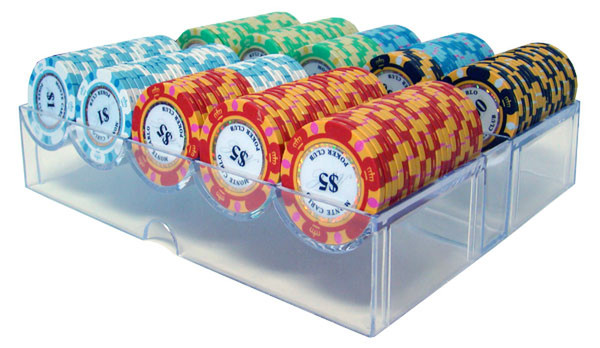 200 Monte Carlo Poker Chip Set with Acrylic Tray