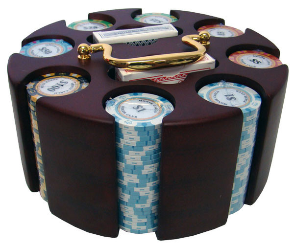 200 Monte Carlo Poker Chip Set with Carousel