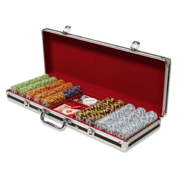 500 Monte Carlo Poker Chip Set with Black Aluminum Case