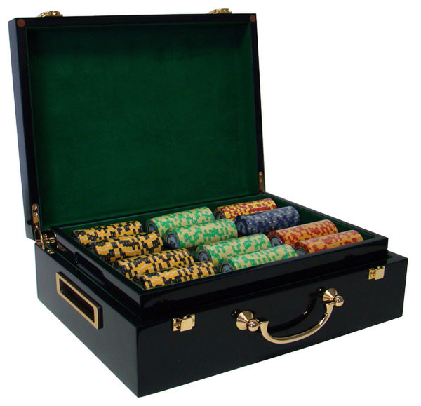 500 Monte Carlo Poker Chip Set with Hi Gloss Case
