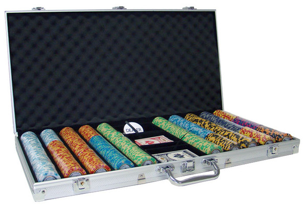 750 Monte Carlo Poker Chip Set with Aluminum Case