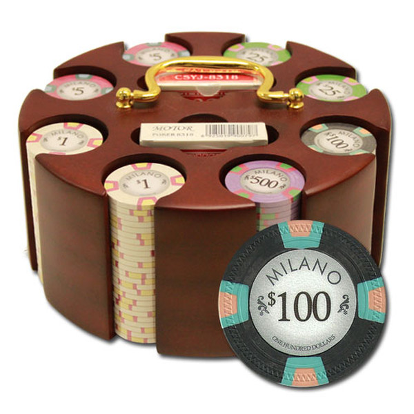 200 Milano Poker Chip Set with Acrylic Tray