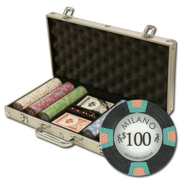 300 Milano Poker Chip Set with Aluminum Case