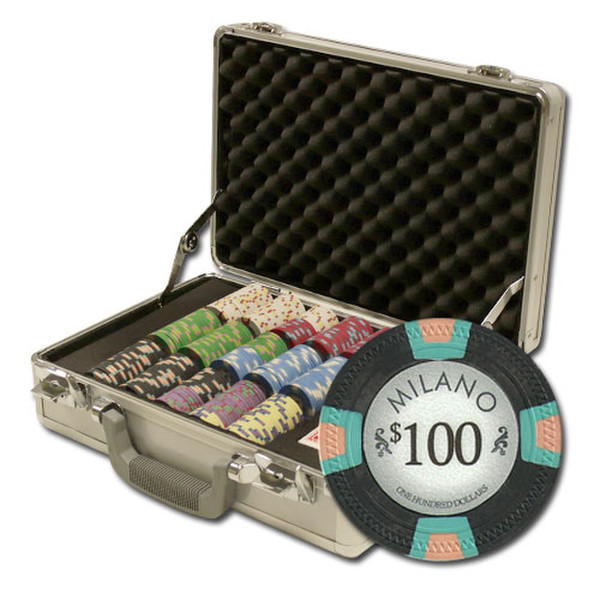 300 Milano Poker Chip Set with Claysmith Case
