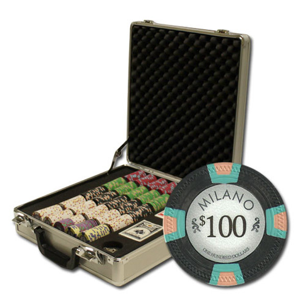 500 Milano Poker Chip Set with Claysmith Case