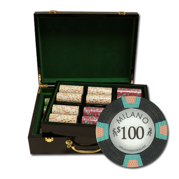 500 Milano Poker Chip Set with Hi Gloss Case
