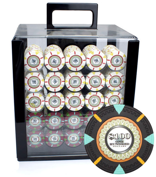 1,000 'The Mint' Poker Chip Set with Acrylic Carrying Case