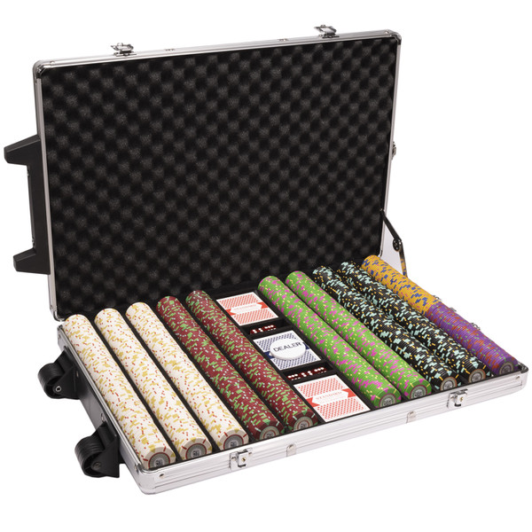 1,000 'The Mint' Poker Chip Set with Rolling Case