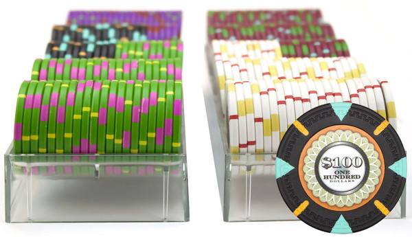 200 'The Mint' Poker Chip Set with Carousel