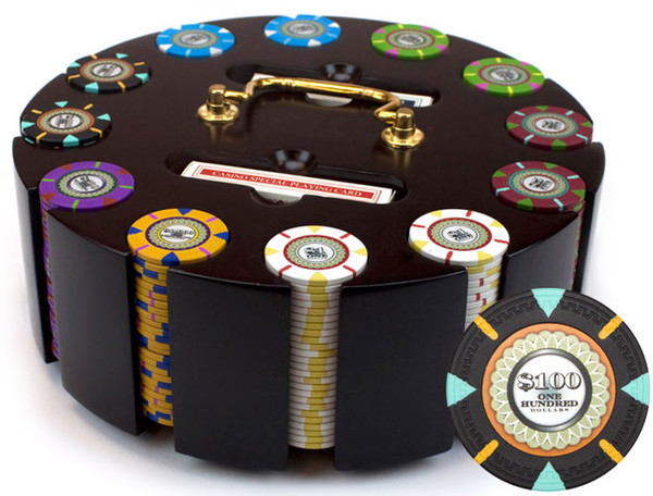 300 'The Mint' Poker Chip Set with Wooden Carousel