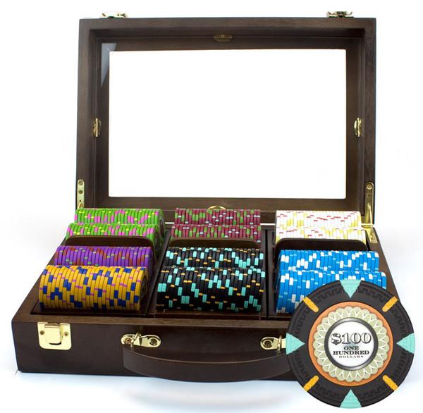 300 'The Mint' Poker Chip Set with Walnut Case