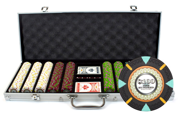 500 'The Mint' Poker Chip Set with Aluminum Case