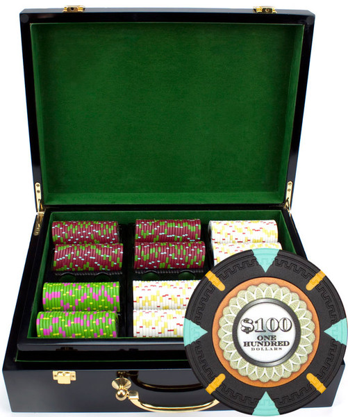 500 'The Mint' Poker Chip Set with Hi Gloss Case