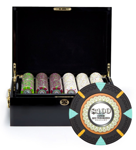 500 'The Mint' Poker Chip Set with Black Mahogany Case