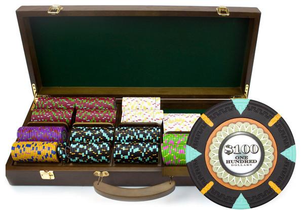 500 'The Mint' Poker Chip Set with Walnut Case