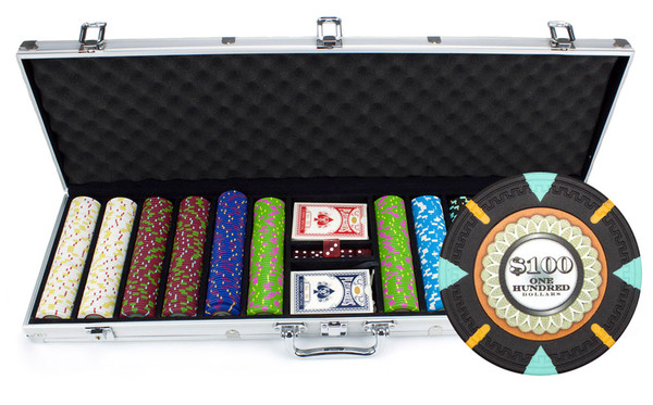 600 'The Mint' Poker Chip Set with Aluminum Case