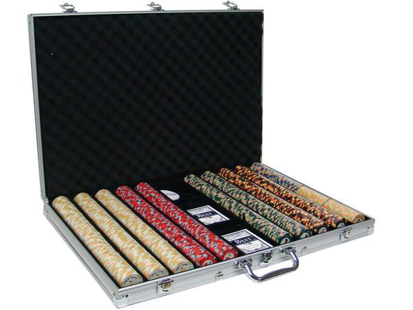 1,000 Nile Club Poker Chip Set with Aluminum Case