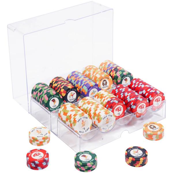 200 Nile Club Poker Chip Set with Acrylic Tray