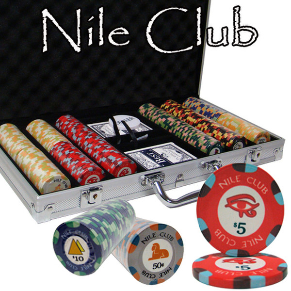 300 Nile Club Poker Chip Set with Aluminum Case