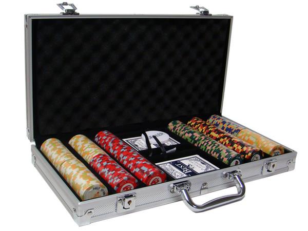 300 Nile Club Poker Chip Set with Aluminum Case