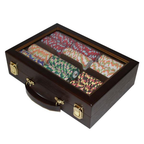 300 Nile Club Poker Chip Set with Walnut Case