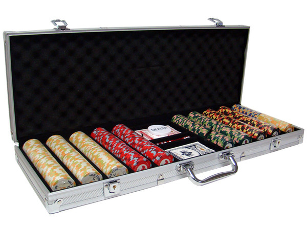 500 Nile Club Poker Chip Set with Aluminum Case