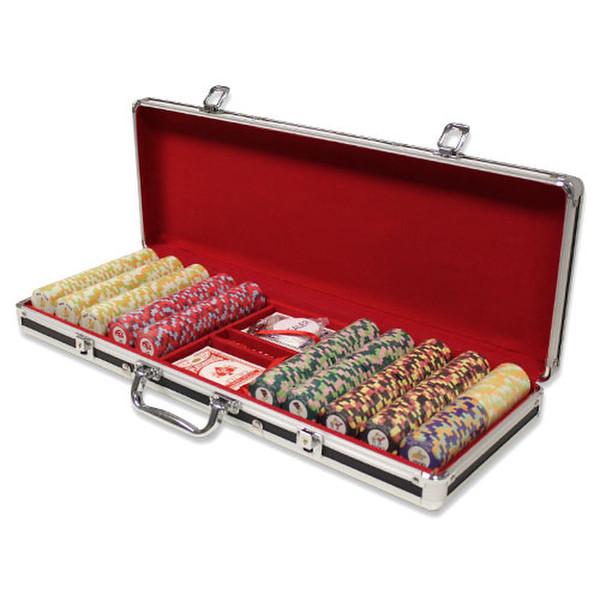 500 Nile Club Poker Chip Set with Black Aluminum Case