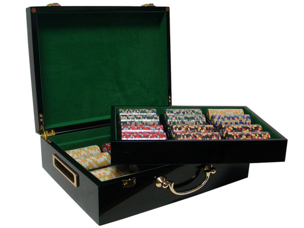 500 Nile Club Poker Chip Set with Hi Gloss Case