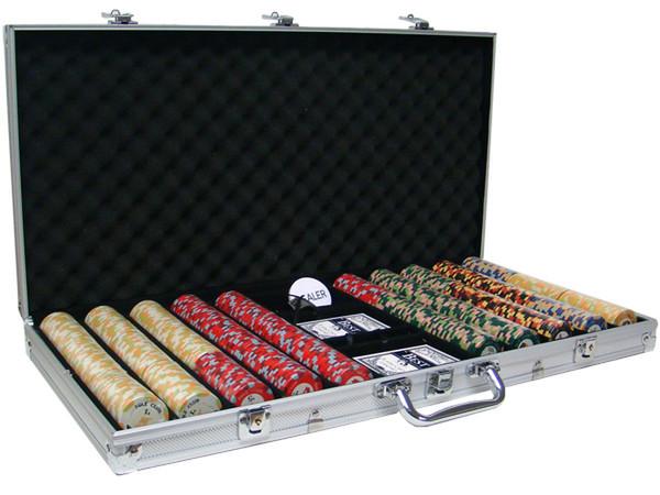 750 Nile Club Poker Chip Set with Aluminum Case