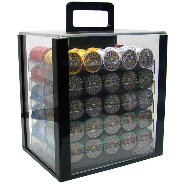 1,000 Chip Nevada Jack Poker Chip Set with Acrylic Carrying Case