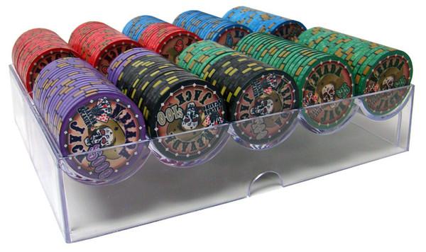 200 Nevada Jack Poker Chip Set with Acrylic Tray