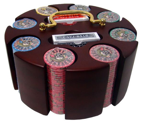 200 Nevada Jack Poker Chip Set with Carousel