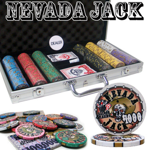 300 Chip Nevada Jack Poker Chip Set with Aluminum Case