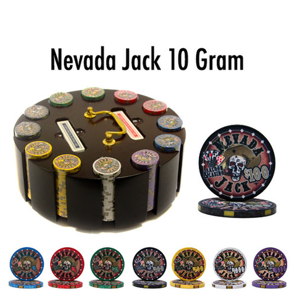 300 Nevada Jack Poker Chip Set with Wooden Carousel