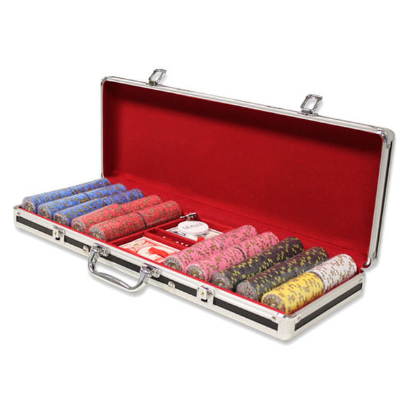 500 Nevada Jack Poker Chip Set with Black Aluminum Case
