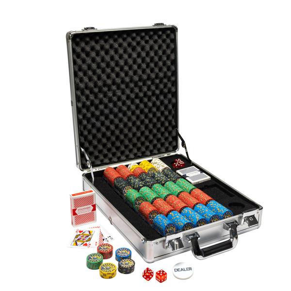 500 Nevada Jack Poker Chip Set with Claysmith Case