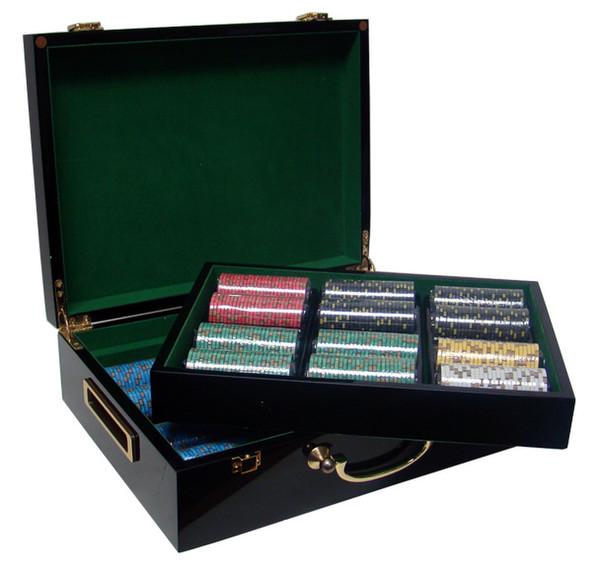 500 Nevada Jack Poker Chip Set with Hi Gloss Case