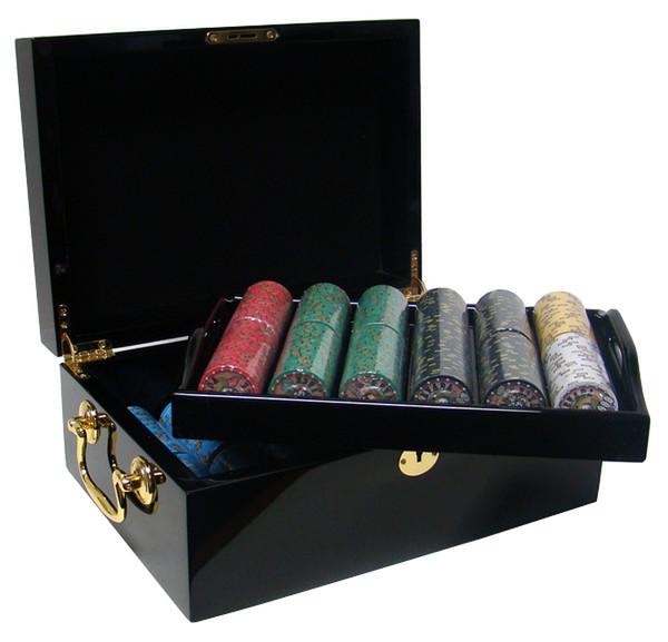 500 Nevada Jack Poker Chip Set with Black Mahogany Case