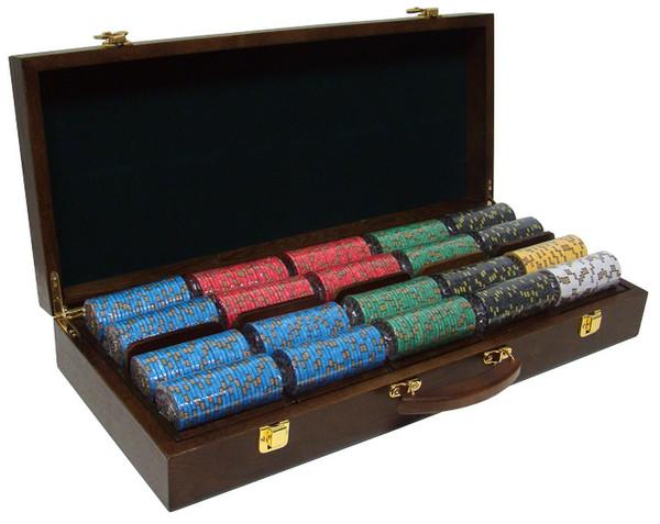 500 Nevada Jack Poker Chip Set with Walnut Case