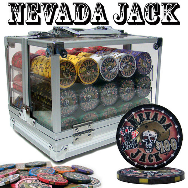 600 Nevada Jack Poker Chip Set with Acrylic Carrying Case