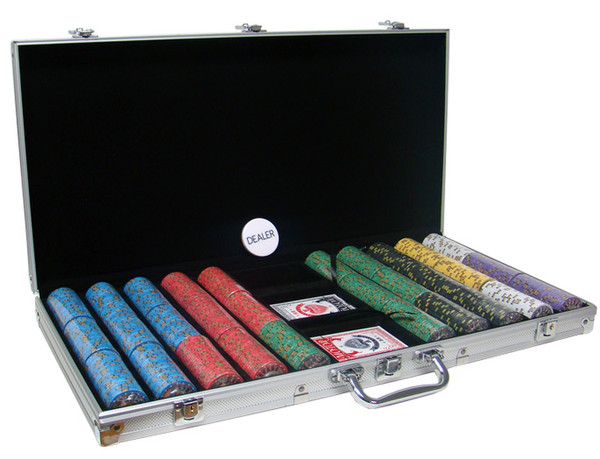 750 Nevada Jack Poker Chip Set with Aluminum Case