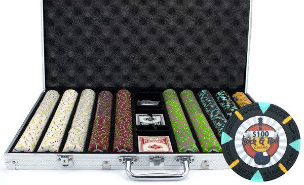 1,000 'Rock & Roll' Poker Chip Set with Aluminum Case